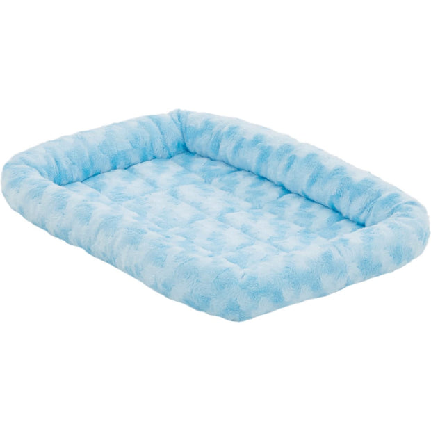MidWest Quiet Time Powder Blue Fashion Double Bolster Bed -