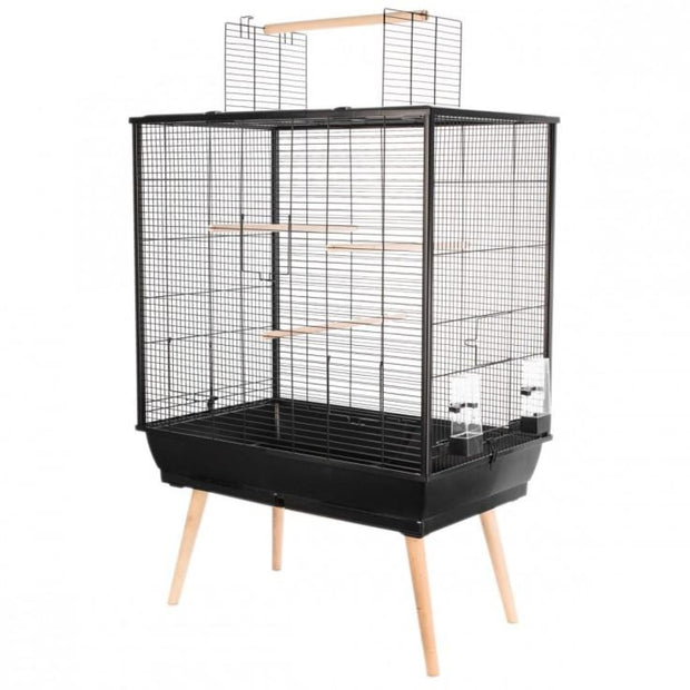 Neo Large Bird Cage by Zolux - Black - Bird Cages & Homes