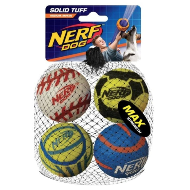 Nerf Dog Solid Tuff Sports Balls - Dog Toys