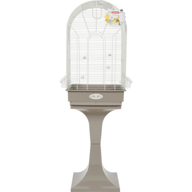 Noemie Arabesque Bird Cage by Zolux - Taupe - Bird Cages &