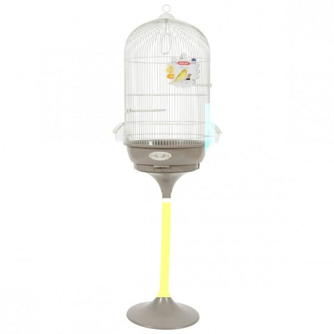 Noemie Arabesque Standing Bird Cage - Taupe - Bird Cages &