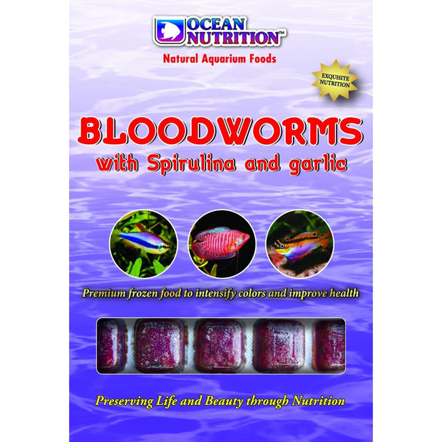 Ocean Nutrition Bloodworms with Spirulina & Garlic - Fish