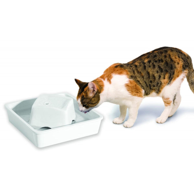 Peaceful Waters Dureable Ceramic Pet Fountain (60 oz / 1.8