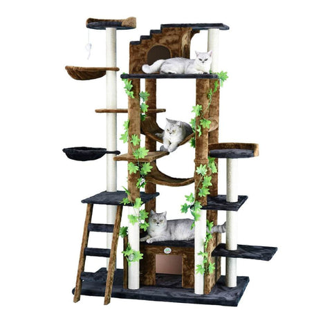 Go Pet Club Double Condo Forrest Cat Tree - Scratchers &