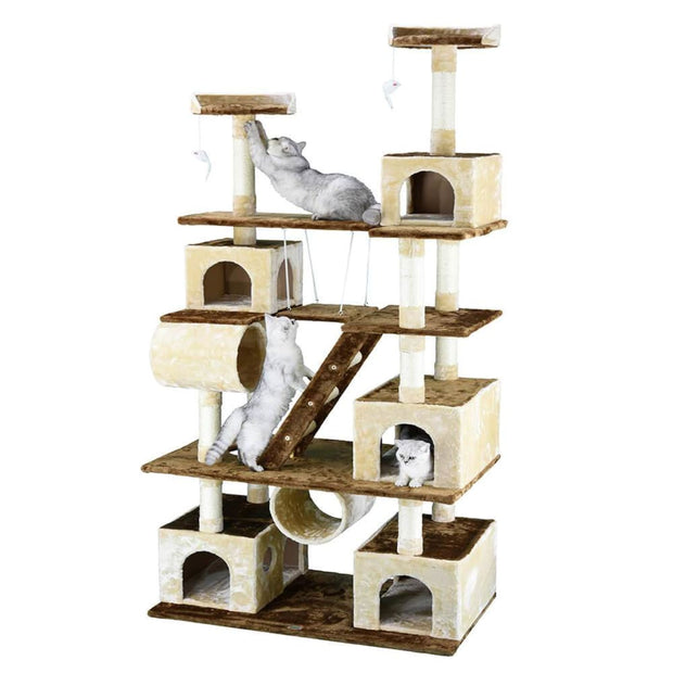 Go Pet Club Five Condo Cat Tree with Swing - Scratchers &