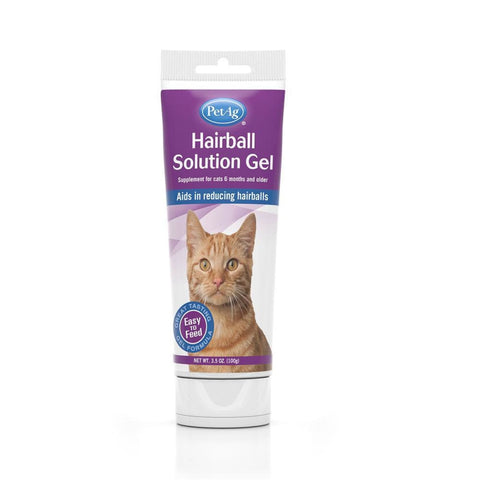 PetAg Hairball Solution Gel for Cats - Cat Health & Grooming