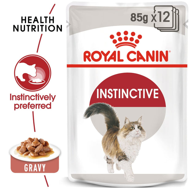 Royal Canin Feline Health Nutrion Instinctive with gravy pouches