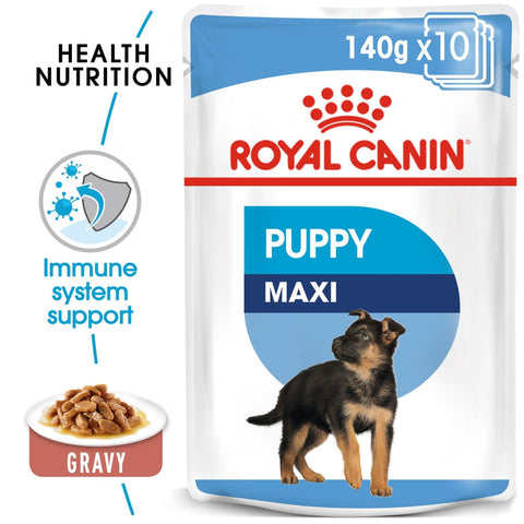 Royal Canin SHN Wet Food Maxi Puppy pouches (10x140g) - Dog