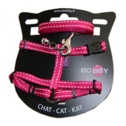 Safe Harness & Lead - Fushia - Cat Collars & Tags