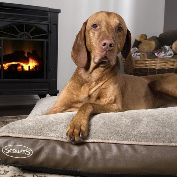 Scruffs Chateau Orthopaedic Mattress - Brown - Dog Beds