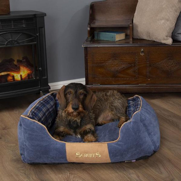 Scruffs Highland Dog Bed - Blue - Dog Beds