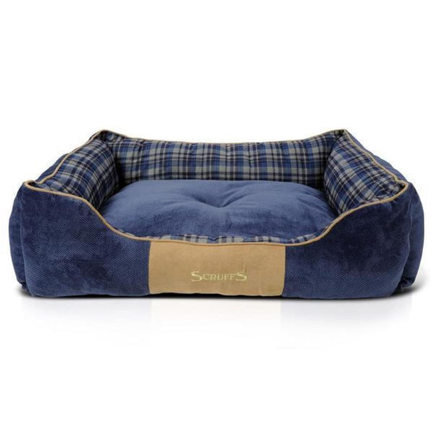 Scruffs Highland Dog Bed - Blue - Small - Dog Beds