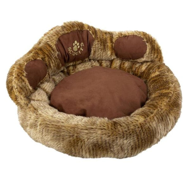 Scruffs Tramps Paw Cat Bed - Light Brown - Beds & Cat