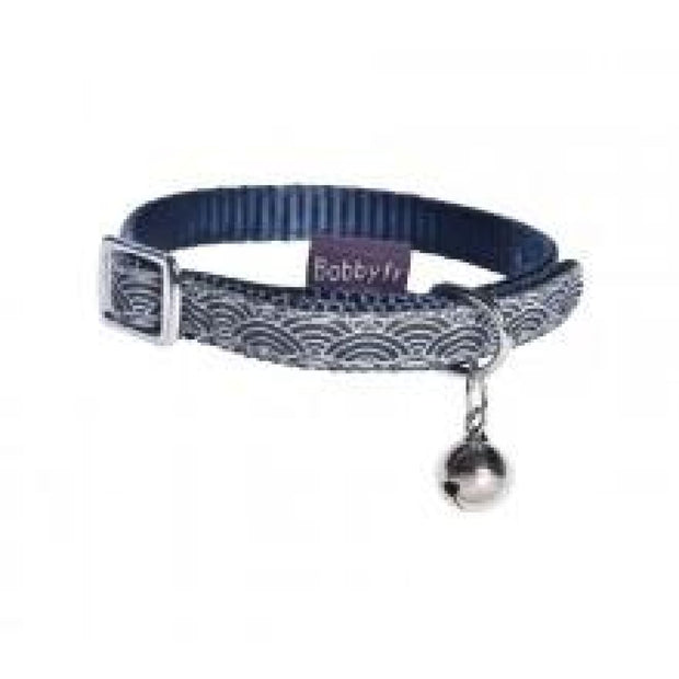 Seigaiha Cat Collar - Blue - Cat Collars & Tags