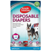 Simple Solution Disposable Diapers for Dogs - Medium -