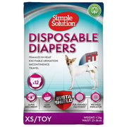 Simple Solution Disposable Diapers for Dogs - X-Small -