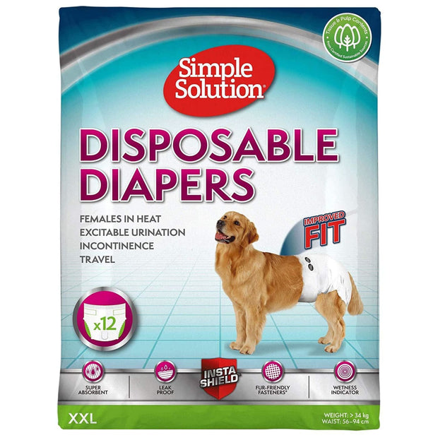 Simple Solution Disposable Diapers for Dogs - XX-Large -