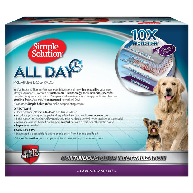 Simple Solution 6-Layer All Day Premium Dog Pads - Hygeine &