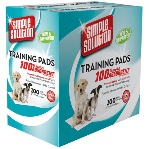 Simple Solution Puppy Training Pads - 100 Pads - Hygeine &