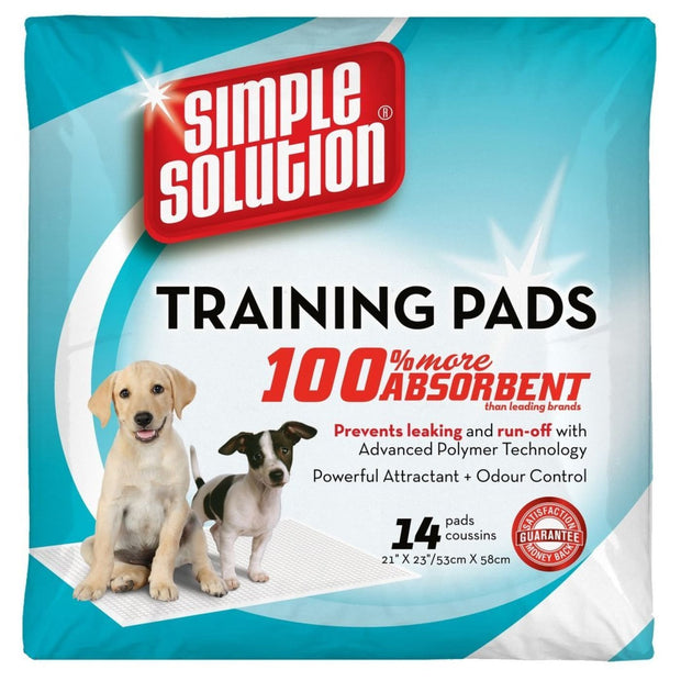 Simple Solution Puppy Training Pads - 14 pads - Hygeine &