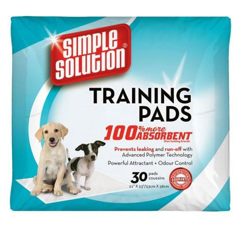 Simple Solution Puppy Training Pads - 30 Pads - Hygeine &