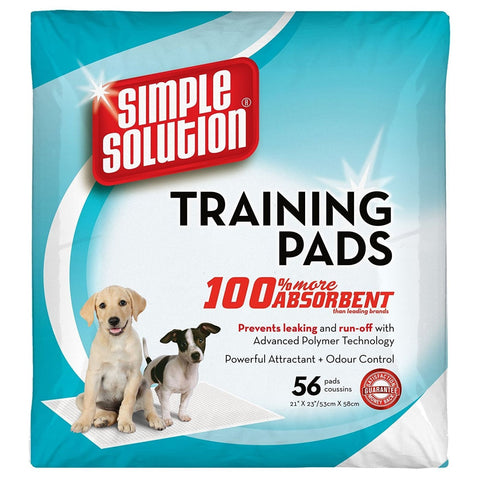 Simple Solution Puppy Training Pads - 56 Pads - Hygeine &