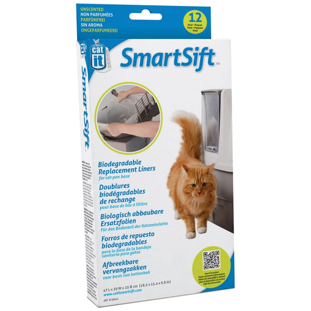 SmartSift Replacement Liners for Cat Pan Base - Litter &