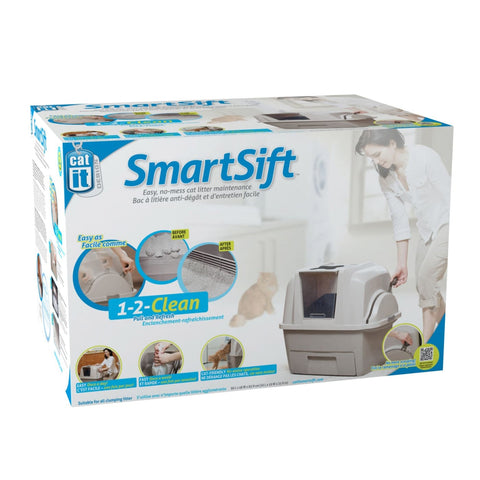 SmartSift Self-Sifting Cat Litter Box - Litter & Hygeine
