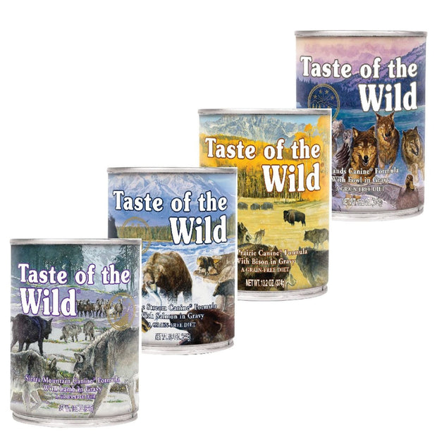 Taste Of The Wild Dog Wetfood Mix (12x375g) - Dog Food