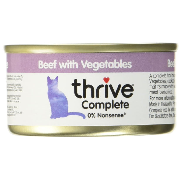 Thrive Cat Complete Beef with Vegetables 75g - Cat Food