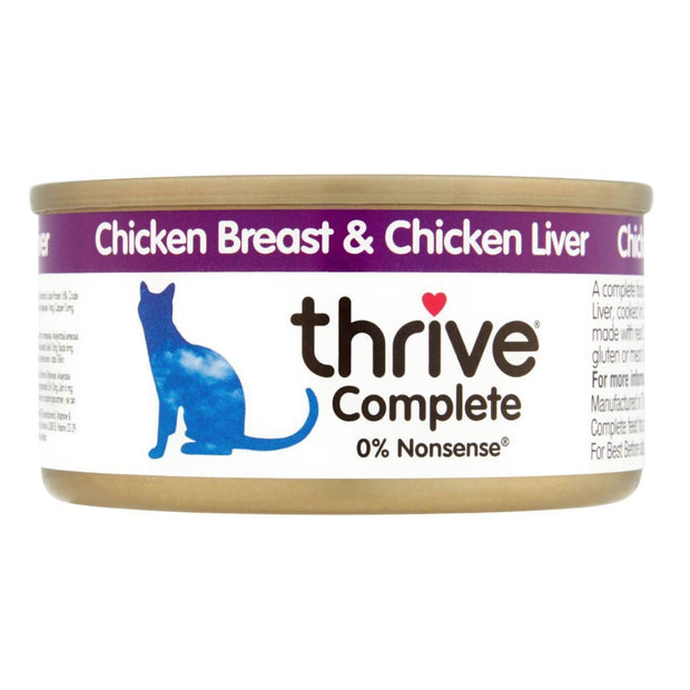 Thrive Cat Complete Chicken with Liver 75g - Cat Food