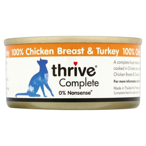 Thrive Cat Complete Chicken with Turkey 75g - Cat Food