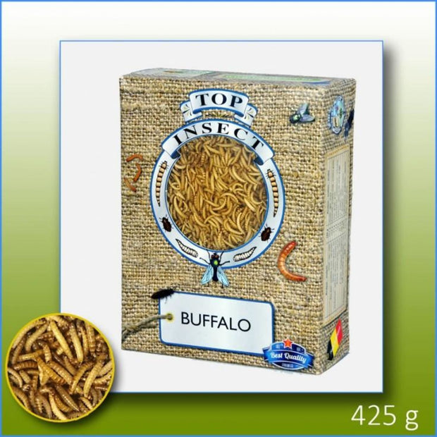 Topinsect Frozen Buffaloworms 1L (425g) - Food & Health