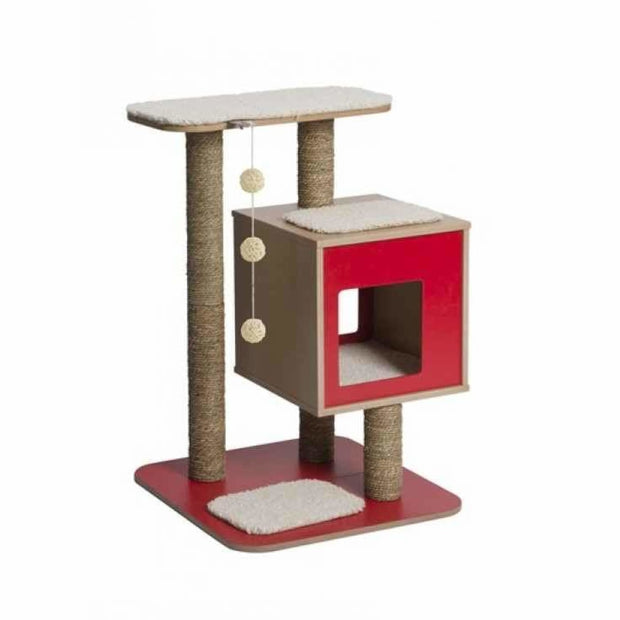 Vesper Base Premium Cat Furniture - Red - Scratchers & Poles