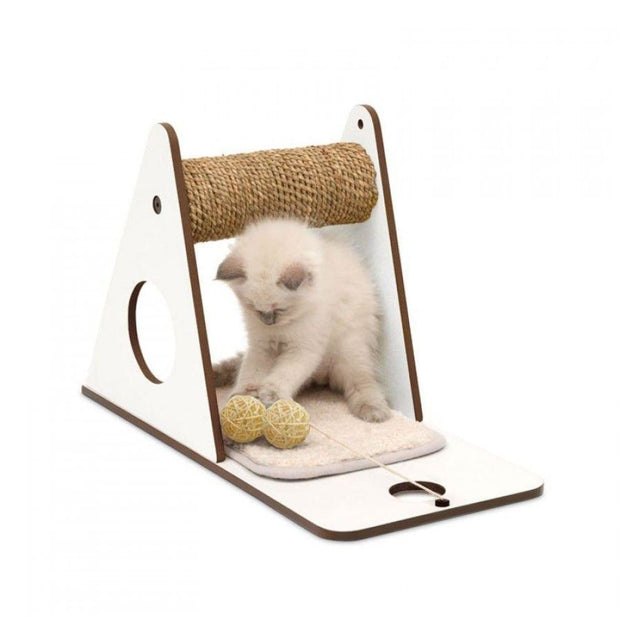 Vesper Cat Play Centre - White - Scratchers & Poles