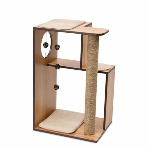 Vesper Design V-Box Large - Walnut - Scratchers & Poles