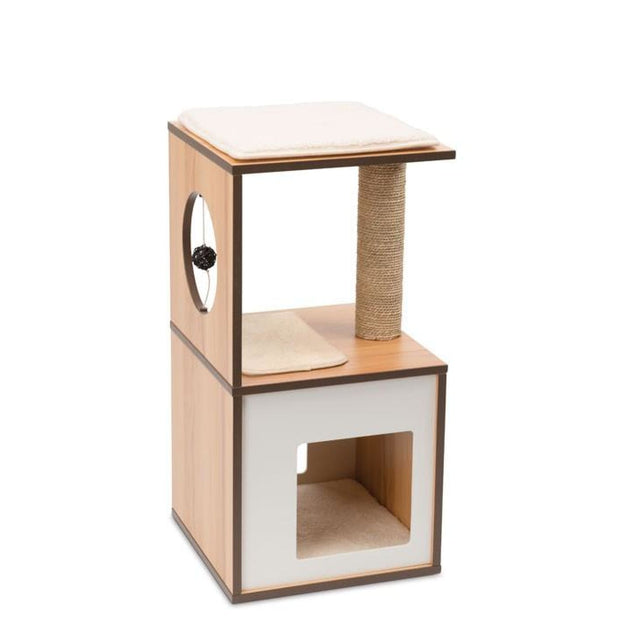 Vesper Design V-Box Small - Walnut - Scratchers & Poles