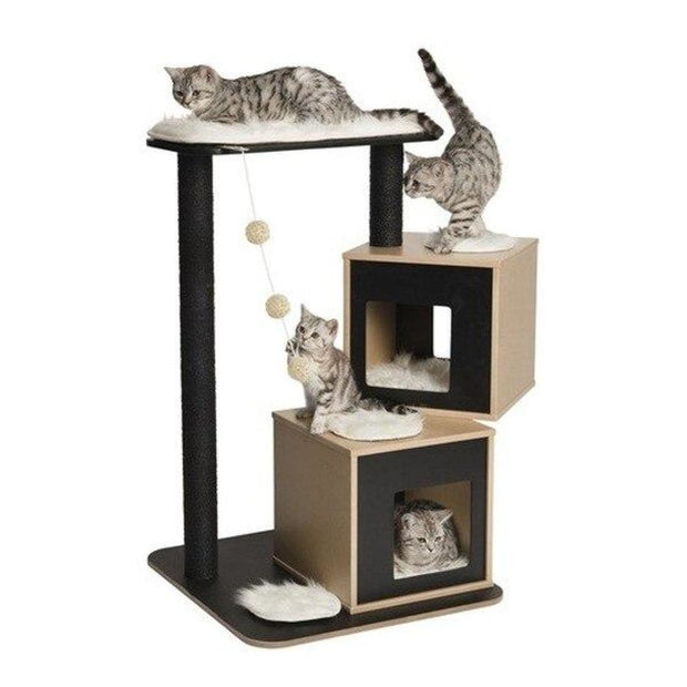 Vesper Design Double Condo - Black - Scratchers & Poles