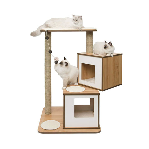 Vesper Design Double Condo - Walnut - Scratchers & Poles