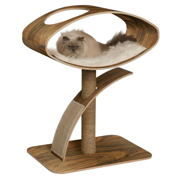 Vesper Designer V-High Lounge - Walnut - Scratchers & Poles