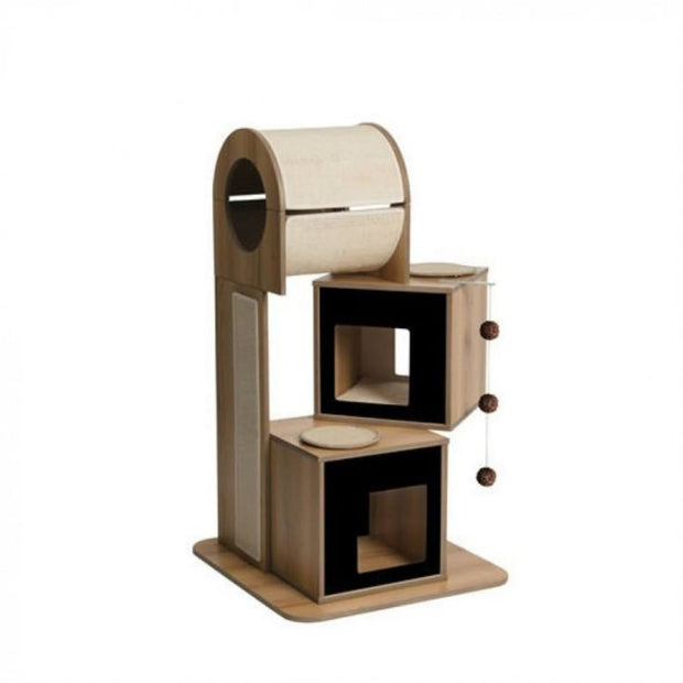 Vesper Premium Cat Tower - Black - Scratchers & Poles