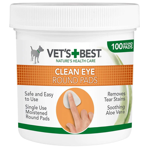 Vets Best Clean Eye Round Pads - Healthcare & Grooming