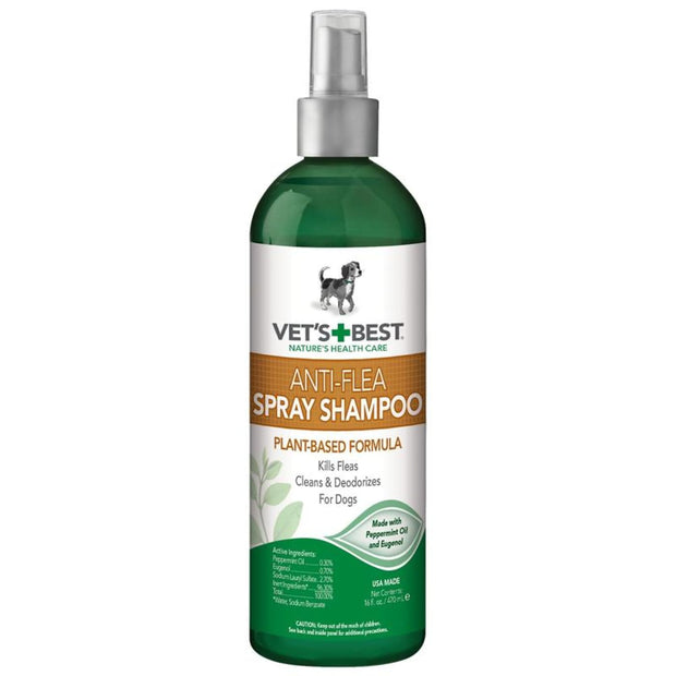 Vets+Best Natural Anti-Flea Easy Spray Shampoo - Flea & Tick