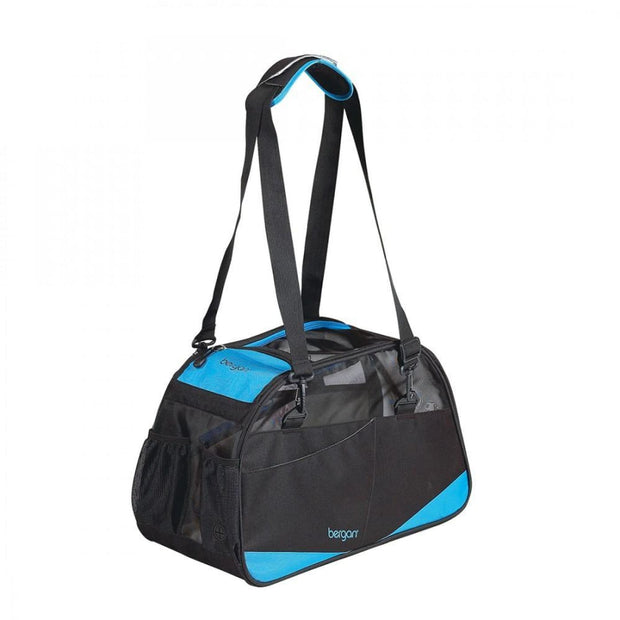 Voyager Comfort Carrier - Black with Blue - Small - Pet