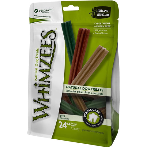 Whimzees Stix Small (24+4) - Dog Treats