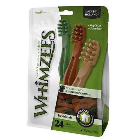 Whimzees Toothbrush Small - 24-piece - Dog Treats