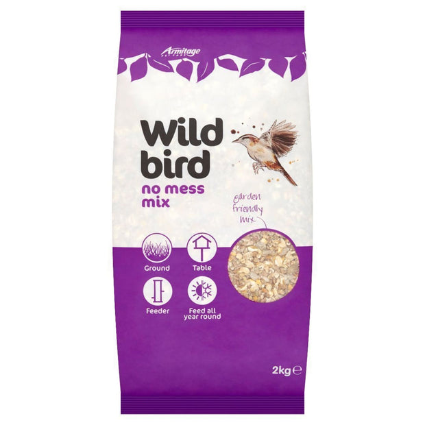 Wild Bird No Mess Bird Seed Mix - 2kg - Bird Food