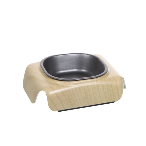 Wood Finish Cat Bowl - Cat Feeders & Bowls