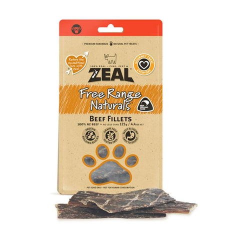 Zeal Dried Beef Fillets - Dog Treats