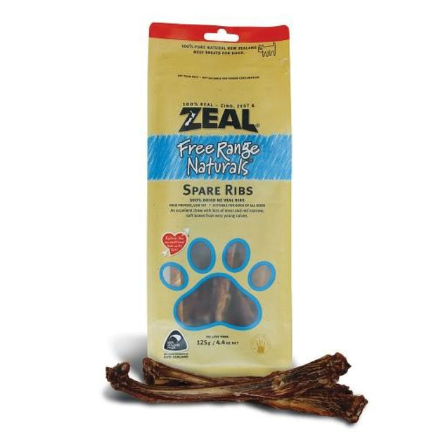 Zeal Meaty Free-Range Spare Ribs - 125g - Dog Treats